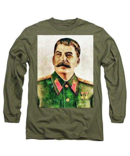 Leaders Of Wwii - Joseph Stalin Long Sleeve T-Shirt
