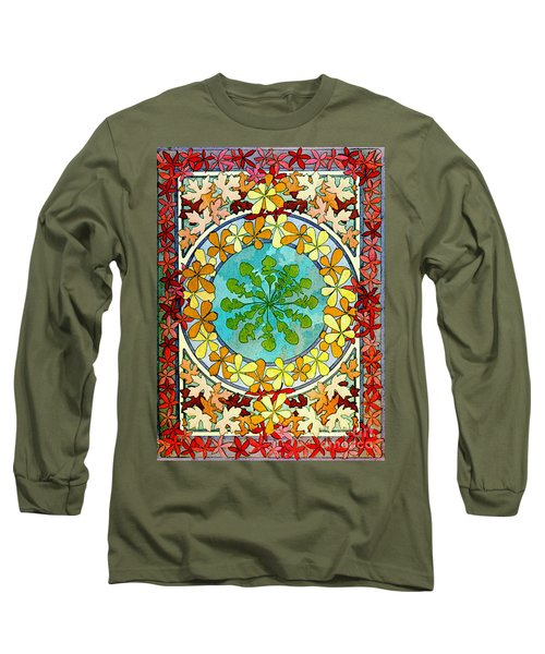 Leaf Motif 1901 Long Sleeve T-Shirt