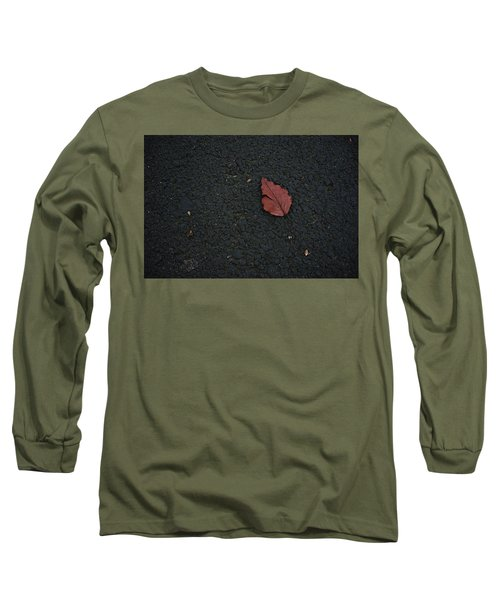 Leaf On Asphalt Long Sleeve T-Shirt