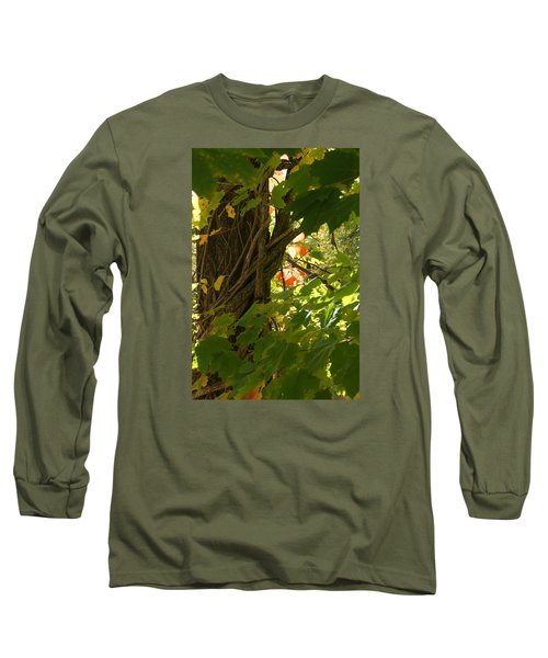 Leaf Peeping In Red Long Sleeve T-Shirt
