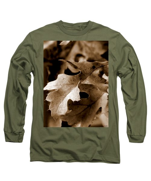 Leaf Study In Sepia IIi Long Sleeve T-Shirt