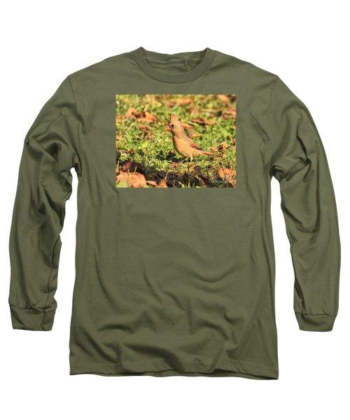 Leafy Cardinal Long Sleeve T-Shirt