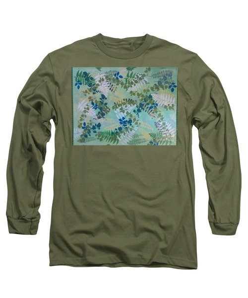 Leafy Floor Cloth - Sold Long Sleeve T-Shirt