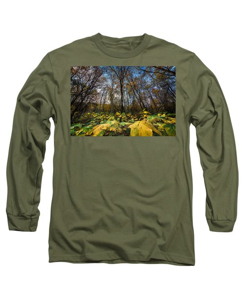 Leafy Yellow Forest Carpet Long Sleeve T-Shirt