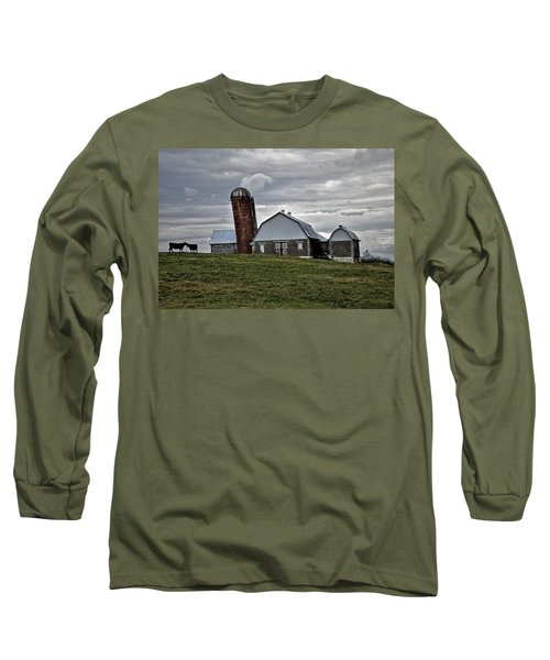 Long Sleeve T-Shirt featuring the photograph Lean On Me by Robert Geary