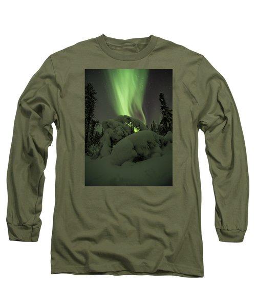 Leaning Spruce Aurora Long Sleeve T-Shirt