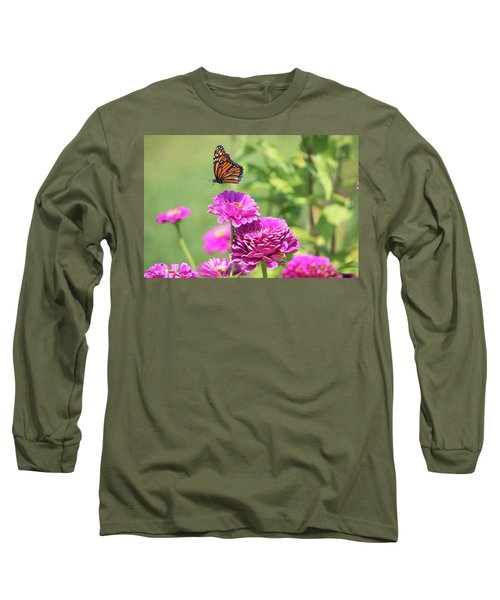 Leaping Butterfly Long Sleeve T-Shirt