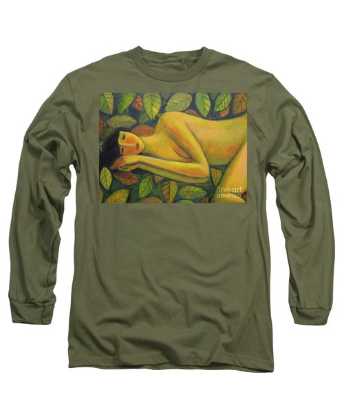 Leaves Of Absence Long Sleeve T-Shirt by Glenn Quist