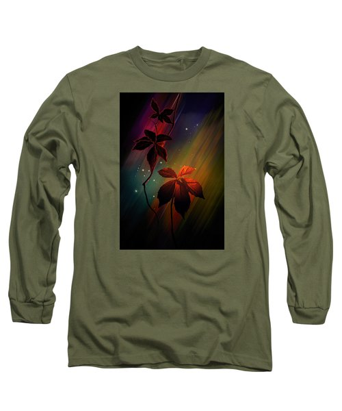 Long Sleeve T-Shirt featuring the photograph Leaves Of Three by Judy  Johnson