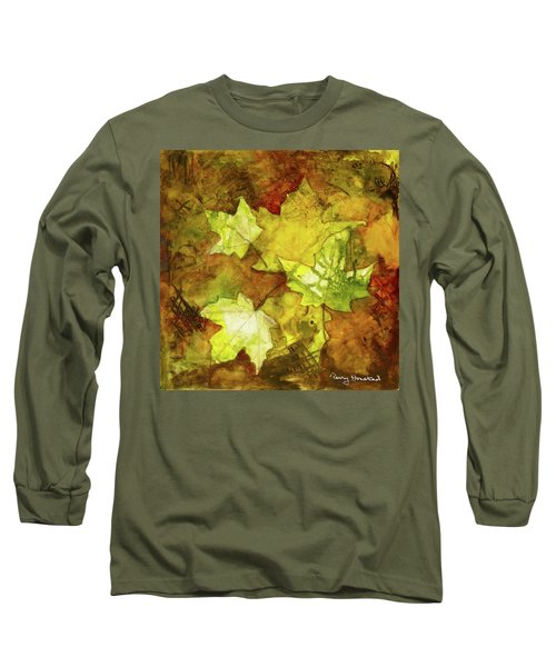 Leaves Long Sleeve T-Shirt by Terry Honstead