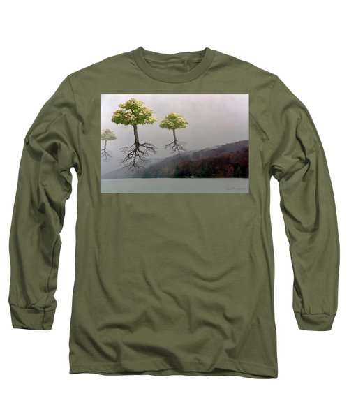 Leaving Home Long Sleeve T-Shirt by Joan Ladendorf