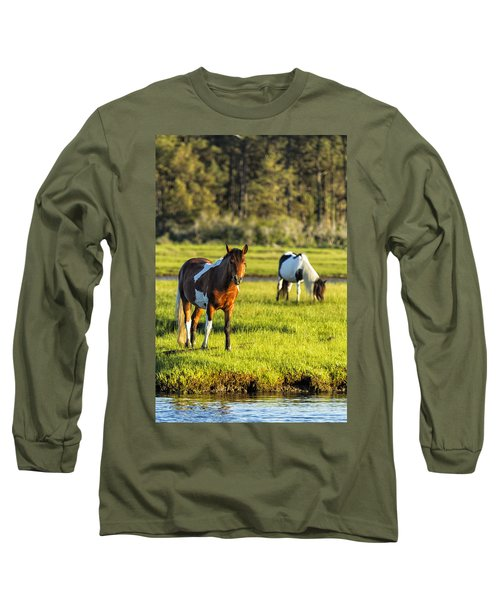 Leaving The Chincoteague Ponies Long Sleeve T-Shirt