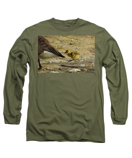 Long Sleeve T-Shirt featuring the photograph Left     Right    Left by Betty-Anne McDonald