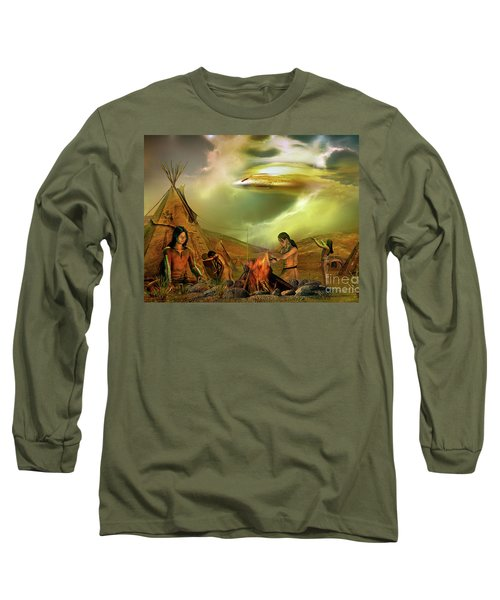Long Sleeve T-Shirt featuring the digital art Legends Of The Sky People  by Shadowlea Is