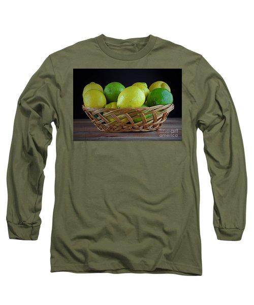 Lemon And Lime Basket Long Sleeve T-Shirt