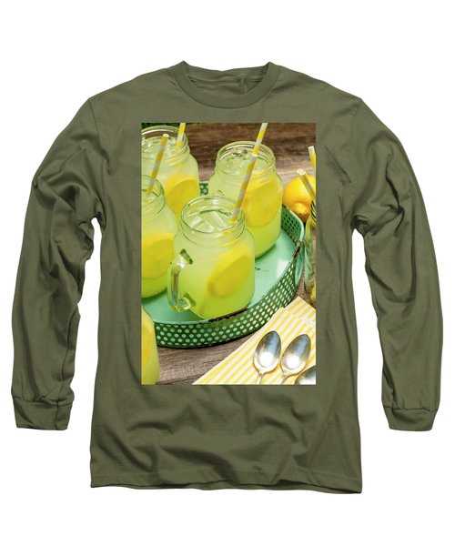 Lemonade In Blue Tray Long Sleeve T-Shirt