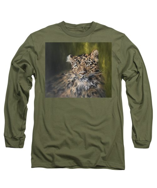 Leopard Relaxing Long Sleeve T-Shirt by Jean Walker