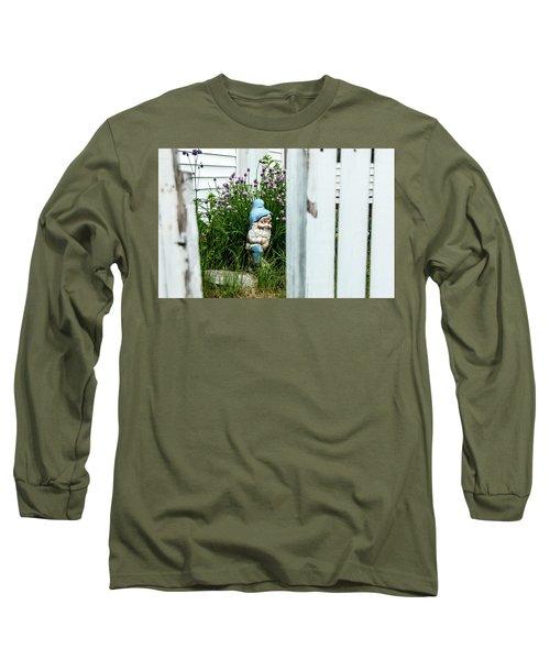 Leprechaun Munching Chives Long Sleeve T-Shirt by Daniel Hebard