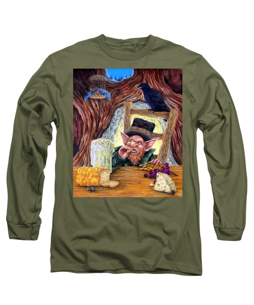 Long Sleeve T-Shirt featuring the painting Leprechaun's Lair by Heather Calderon