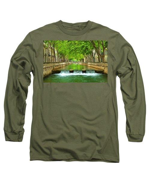 Les Quais De La Fontaine Nimes Long Sleeve T-Shirt