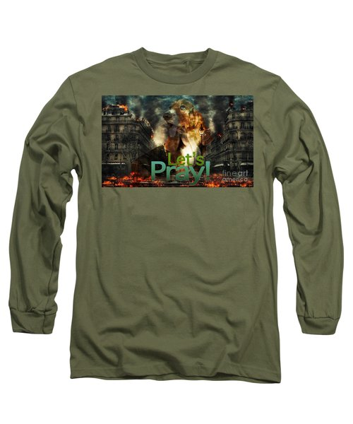 Long Sleeve T-Shirt featuring the digital art Let Us Pray by Kathy Tarochione