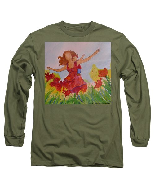 Long Sleeve T-Shirt featuring the painting Let's Fly  by Gioia Albano