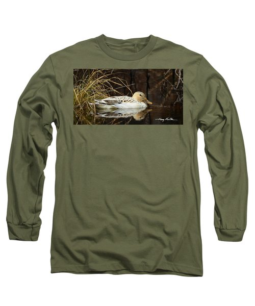 Leucistic Mallard Long Sleeve T-Shirt