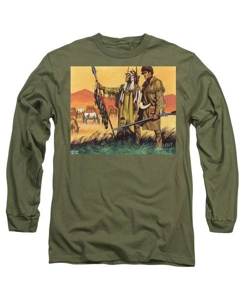 Lewis And Clark Expedition Scene Long Sleeve T-Shirt