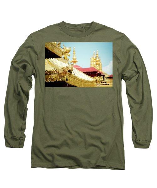 Lhasa Jokhang Temple Fragment Tibet Long Sleeve T-Shirt