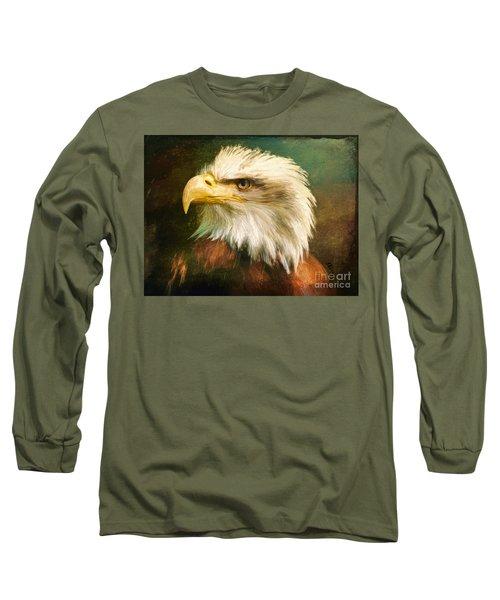 Liberty And Justice Long Sleeve T-Shirt by Tina LeCour