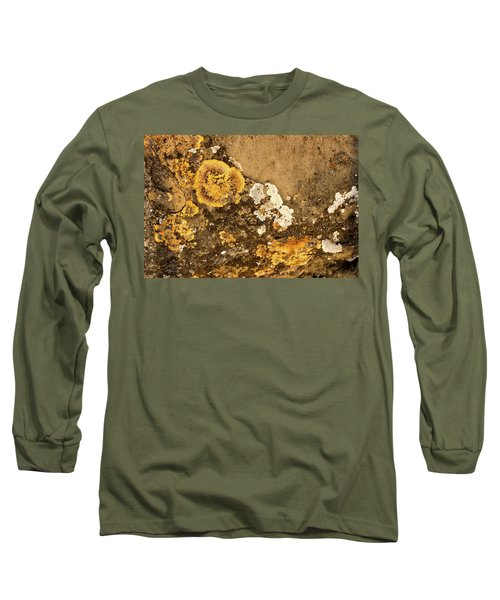 Long Sleeve T-Shirt featuring the photograph Lichen On The Piran Walls by Stuart Litoff