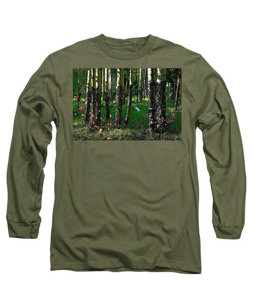 Life Among The Aspens Long Sleeve T-Shirt