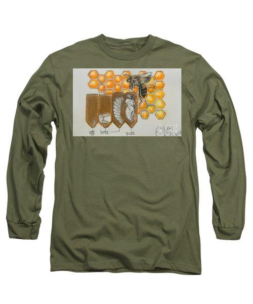 Life Cycle Of A Bee  Long Sleeve T-Shirt by Francine Heykoop