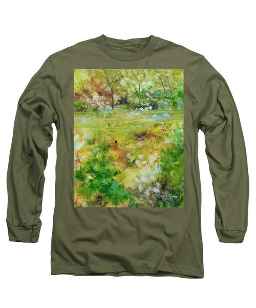Long Sleeve T-Shirt featuring the painting Life Lessons by Judith Rhue