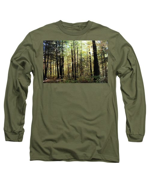 Light Among The Trees Long Sleeve T-Shirt by Felipe Adan Lerma