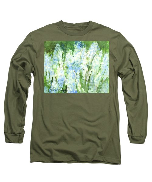 Light Blue Grape Hyacinth. Long Sleeve T-Shirt by Laurie Rohner