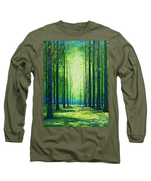 Light From Green Long Sleeve T-Shirt