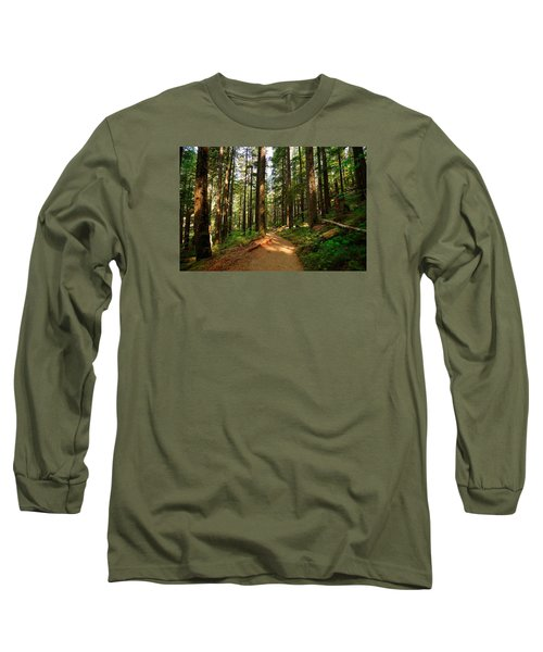 Long Sleeve T-Shirt featuring the photograph Light In The Forest by Lynn Hopwood