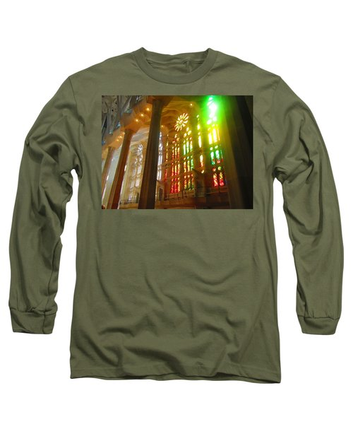 Light Of Gaudi Long Sleeve T-Shirt by Christin Brodie