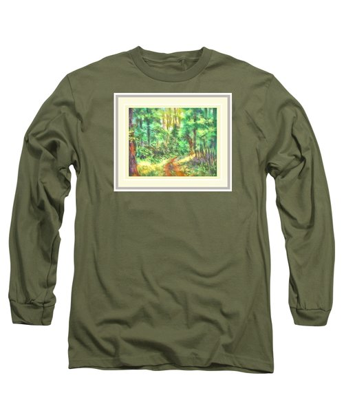 Long Sleeve T-Shirt featuring the photograph Light On The Path by Shirley Moravec