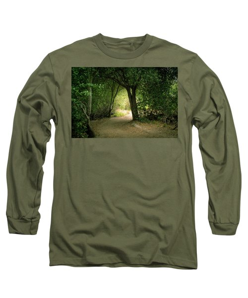 Light Through The Tree Tunnel Long Sleeve T-Shirt
