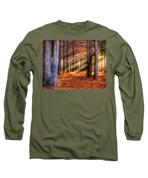 Light Thru The Trees Long Sleeve T-Shirt by Sumoflam Photography