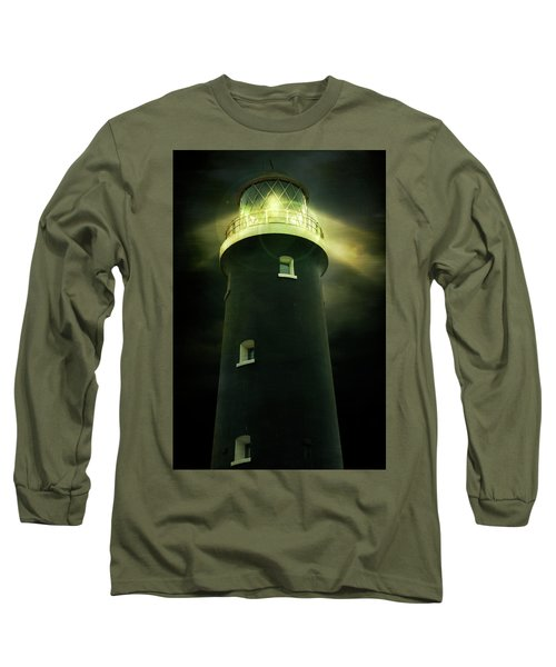 Lighthouse At Night Long Sleeve T-Shirt