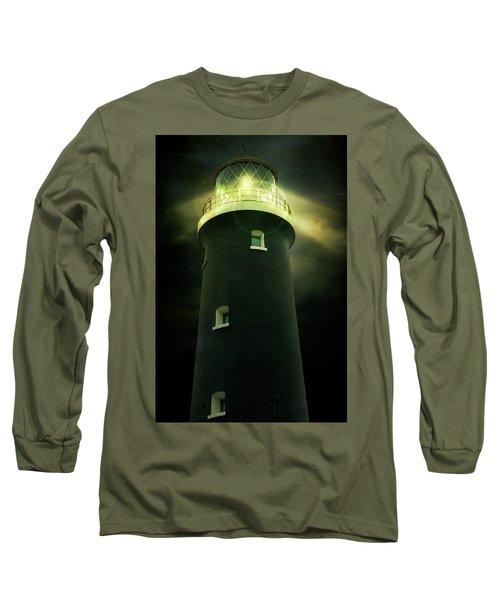 Lighthouse At Night Long Sleeve T-Shirt
