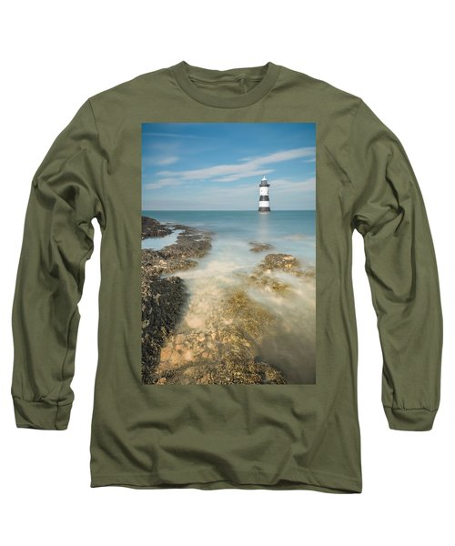 Lighthouse At Penmon Long Sleeve T-Shirt