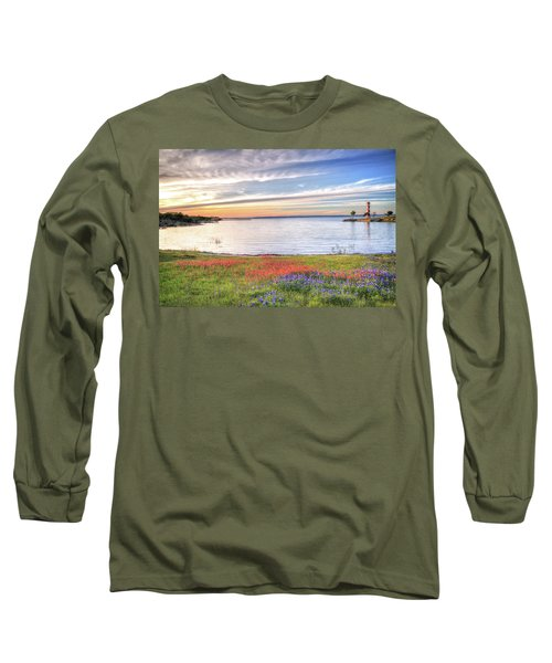 Lighthouse Sunset At Lake Buchanan Long Sleeve T-Shirt