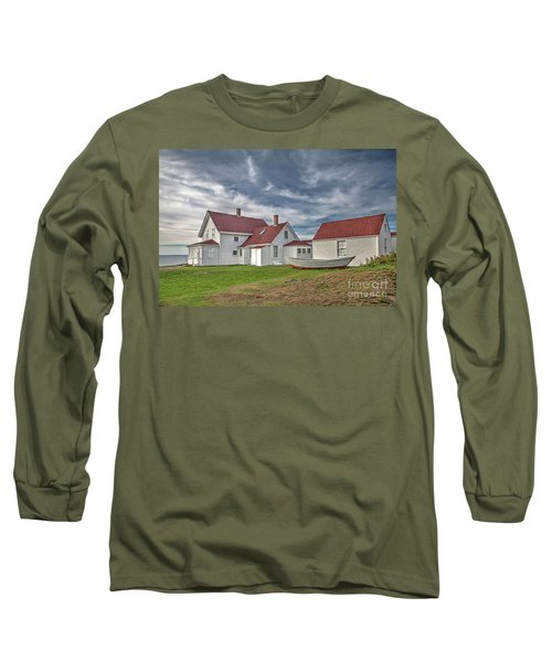 Keepers House At The Monheagn Lighthouse Long Sleeve T-Shirt