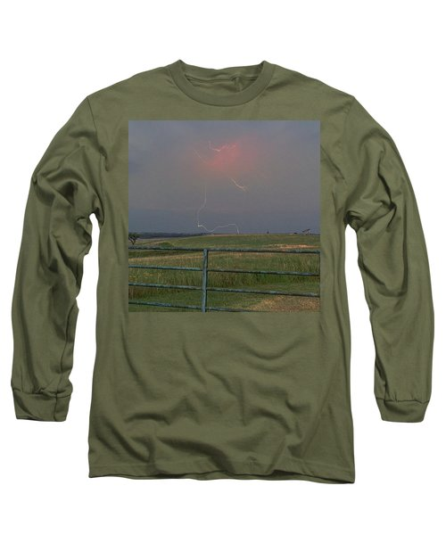 Lightning Bolt On A Scenic Route Long Sleeve T-Shirt