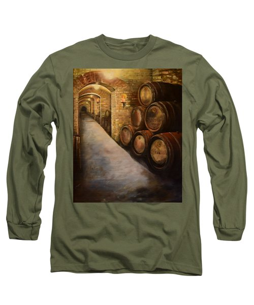 Lights In The Wine Cellar - Chateau Meichtry Vineyard Long Sleeve T-Shirt