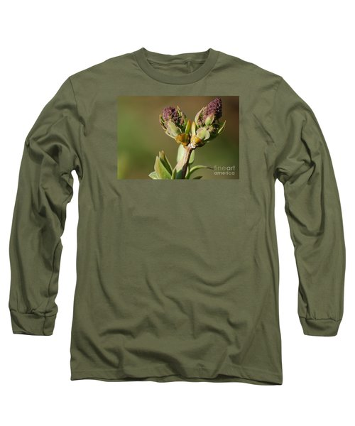 Long Sleeve T-Shirt featuring the photograph Lilac Bud by Randy Bodkins